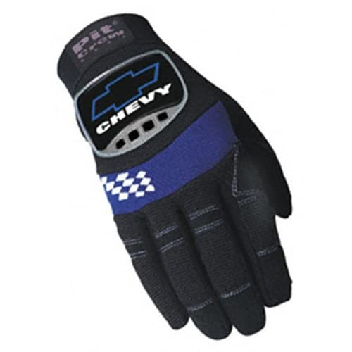 Amazon.com: Pit Crew Gear Chevy Logo Mechanic Gloves Medium PC-011