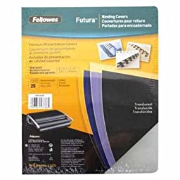 Fellowes Futura Premium Heavyweight Presentation Covers, Oversize, Lined, 25 Pack (5224401)