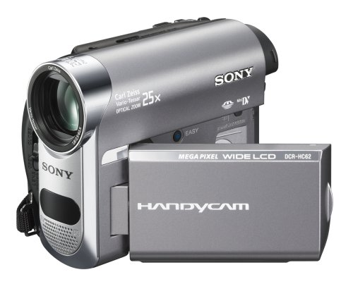 Sony DCR-HC62 1MP MiniDV Handycam Camcorder with 25x Optical Zoom