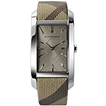 Big Sale Best Cheap Deals Burberry BU9404 Women's Heritage Beige Leather Strap Cappuccino Dial Rectangular Watch