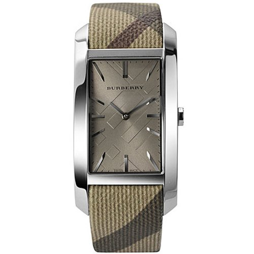 Burberry BU9404 Women's Heritage Beige Leather Strap Cappuccino Dial Rectangular Watch