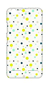 Amez designer printed 3d premium high quality back case cover for Lenovo K5 Plus (Colourful Dots Pattern)