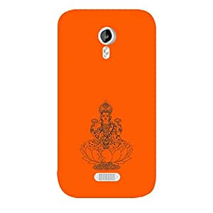 Skin4gadgets Maa Laxmi - Line Sketch on English Pastel Color-Orange Phone Skin for CANVAS LIGHT (A92)