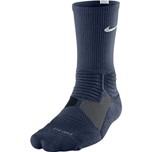 NIKE Hyper Elite Basketball Crew Socks - M - Midnight Navy/White