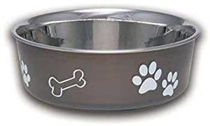 Loving Pets Bella Bowl Dog Bowl, Large, 2-Quart, Espresso