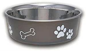 Loving Pets Bella Bowl Dog Bowl, Small, 1 Pint, Espresso