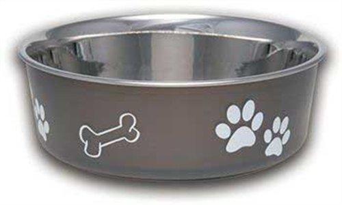 Loving Pets Bella Bowl Dog Bowl, Large, 2-Quart, Espresso front-560478