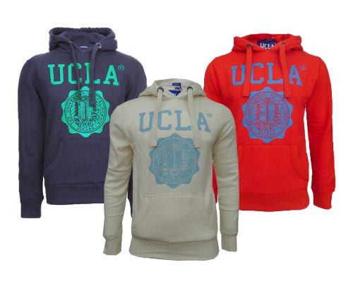 Mens Branded UCLA Colin Crest Hoodie Sweat Top (L - 42