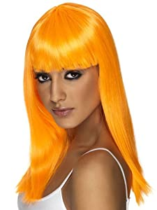 Smiffy's Women's Glamourama Wig, Orange, One Size