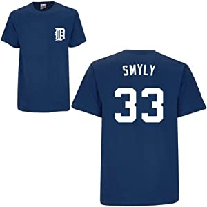 Drew Smyly Detroit Tigers Navy Player T-Shirt by Majestic by Majestic