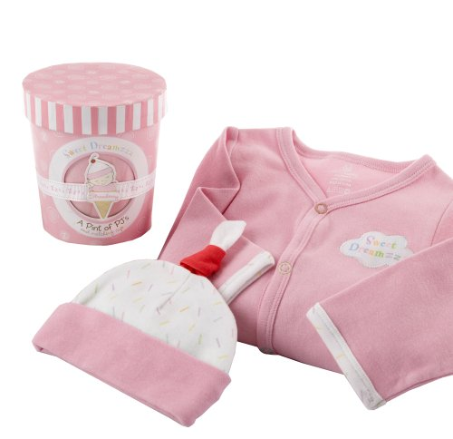 Baby Aspen Sweet Dreamzzz Pint of PJ's Sleep Time Gift Set, Strawberry, 0-6 Months