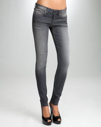 Bebe Signature Stretch Skinny Jean DUSTY GREY Size 29