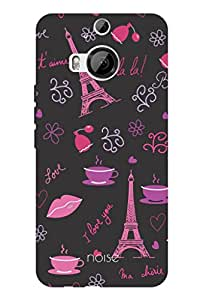 Noise Eiffel Tower-Black Printed Cover for HTC One M9 Plus