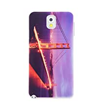 buy Casebee® - Golden Gate Bridge Night View From Top Samsung Galaxy Note 3 Note Iii N9000 N9005 Case (Package Includes Screen Protector)