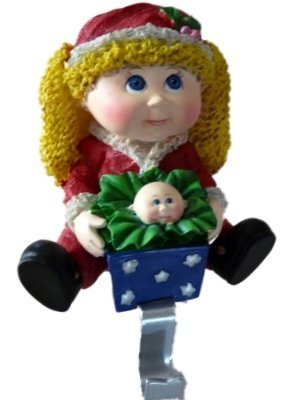 molded-resin-cabbage-patch-kids-christmas-stocking-holder-blonde-girl-by-cabbage-patch-kids