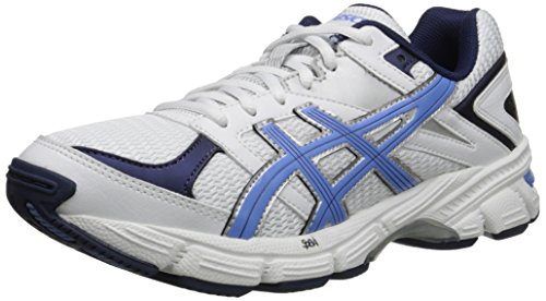 ASICS Women's Gel 190 TR Training Shoe, White/Periwinkle/Midnight Navy, 8 M US