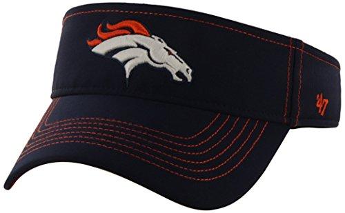 Nfl Denver Broncos '47 Brand Defiance Adjustable Visor, Light Navy, One Size front-960982