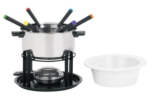 Trudeau Multi 12-Piece Stainless Steel Fondue Set