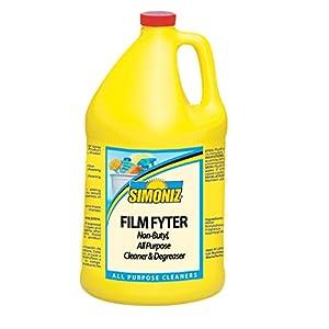 Simoniz F1140004 Film Fyter Vehicle Cleaner and Degreaser, 1 gal Bottles per Case (Pack of 4)