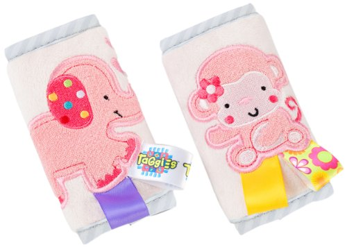 Taggies Strap Covers, Pink front-859592