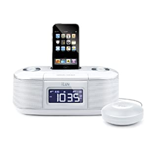iLuv Dual Alarm Clock with Bed Shaker for your iPod