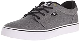 DC Men\'s Anvil TX SE Skate Shoe, Grey, 10 M US