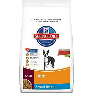 Hill's Science Diet Adult Light Small Bites Dry Dog Food, 17.5-Pound Bag