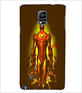 PrintDhaba Superhero D-4932 Back Case Cover for SAMSUNG GALAXY NOTE 2 (Multi-Coloured)