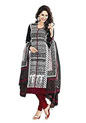 FastColors Women's Cotton Dress Material(komal-4609_FO_Black)