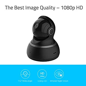 YI Dome Camera 1080p HD Pan/Tilt/Zoom Wireless IP Security Surveillance System Night Vision (US Edition) by YI Technology