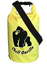 #1 Dry bag (10L) Yellow, Built Chill Gorilla Tough To Keep Your Stuff Dry. DryBag Guaranteed Waterproof