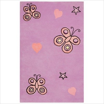 St. Croix Trading Butterfly Kisses Area Rug, Purple