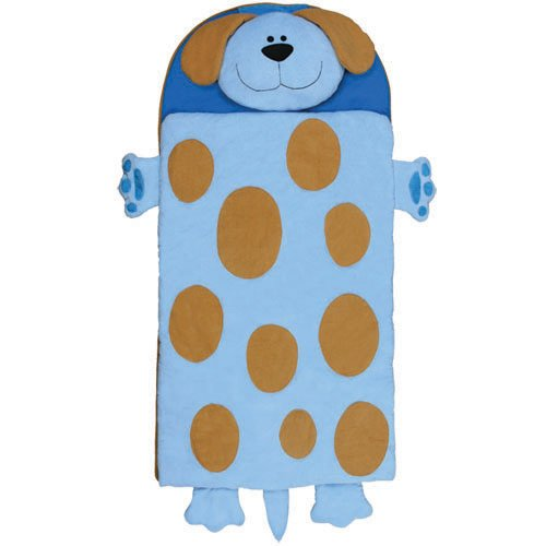 Stephen Joseph Dog Nap Mat, Baby Blue/Brown