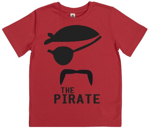 Phunky Buddha - The Pirate Kids Tshirt 9-10 Yrs - Red front-581002