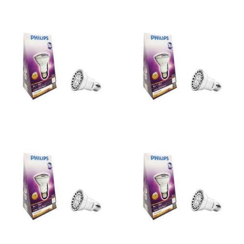 Philips 8-Watt (50-Watt) Par20 Bright White (3000K) Dimmable Led Flood Light Bulb- (4 Pack)