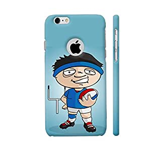 Colorpur Funny Rugby Player On Blue Artwork On Apple iPhone 6 / 6s Logo Cut Cover (Designer Mobile Back Case) | Artist: Giordano Aita