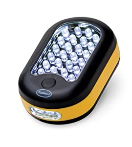 Eastwood 24+3 LED Battery Operated Work Light Flashlight w Hanging Hook & Magnet