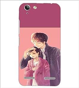 PrintDhaba Couple D-2654 Back Case Cover for LENOVO A6020a46 (Multi-Coloured)