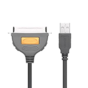 UGREEN USB to IEEE1284 CN36 Parallel Printer Adapter Cable for Printer, Inkjet, Laser etc (3FT)