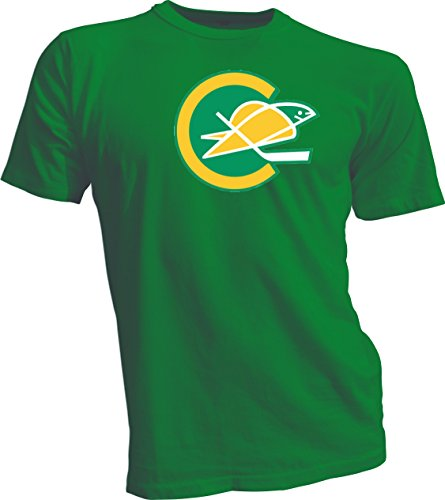 New Hockey Men Tee T Shirt Size 2x-large Green Defunct NHL KHL Wild California Golden Seals Vintage and Retro Look Clothing or Apparel (California Golden Seals Jersey compare prices)