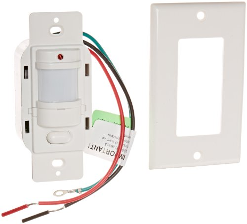 Rab Lighting Los1000W/120 Occupancy Sensor With Decorator Wall Plates, 1000W Power, 120V, White