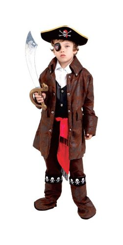 Caribbean Boy Pirate Kids Costume