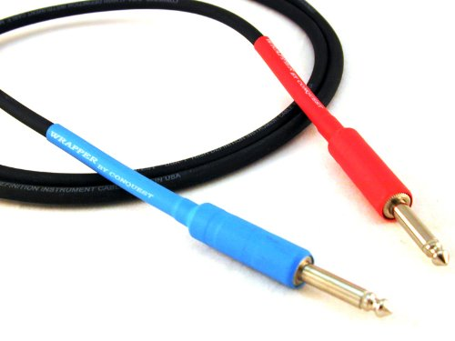 Conquest Sound W 10 Hi Definition 10-Foot Guitar/Instrument Cable - Neutrik Plugs Heat Shrink