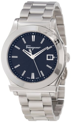 Ferragamo Men's F62LBQ9909 S099 Ferragamo 1898 Stainless Steel Sapphire Crystal Black Dial Date Watch
