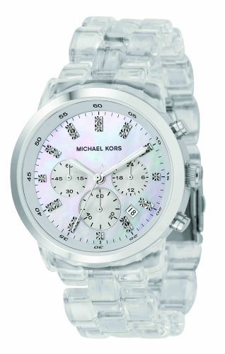 Michael Kors Quartz, Mother of Pearl Dial with Silvertone Band - Womens Watch MK5235