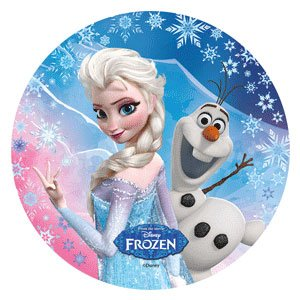 Disney frozen cake topper 21 cm edible wafer rice paper i cup cake