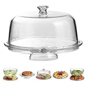 Amazing Cake Stand Multifunctional Cake and Serving Stand 30.4 cm (6 Uses) by ClearMax