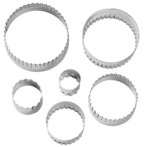 Wilton 417-2581 6-Piece Nesting Fondant Double Sided Cut Out Cutters, Round (Fondant Cookie Cutters compare prices)