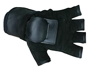 Hillbilly Wrist Guard Gloves - Half Finger (Black, Large)