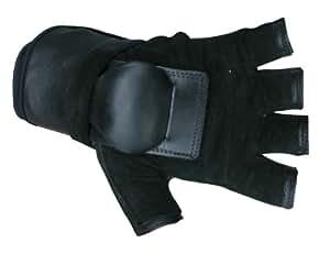 Hillbilly Wrist Guard Gloves - Half Finger (Black, Small)